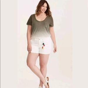 Torrid Pom Pom Short - White Wash Size 20